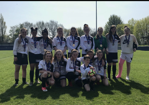 Our U14 Girls at the County Ground after their Herts FA County Cup Final 2017/18.